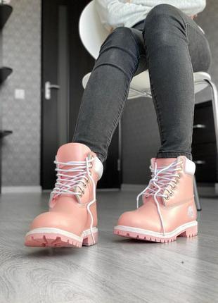 Шикарные женские осенние ботинки timberland pink 😍 (без меха/ ...