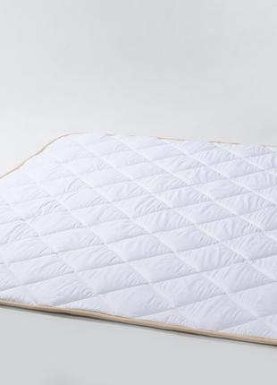 Одеяло из шерсти мериносов белое классическое 140х100 детское