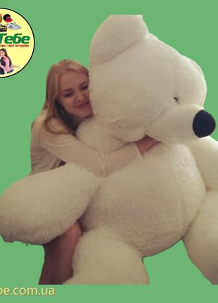 Медведь Бублик 200 см Белый. Большая мягкая игрушка