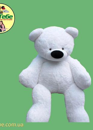 Медведь Бублик 180 см Белый. Большая мягкая игрушка
