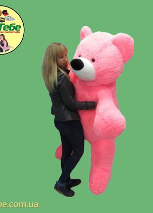 Медведь Бублик 200 см Розовый. Большая мягкая игрушка