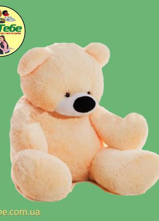 Медведь Бублик 140 см Персиковый. Большая мягкая игрушка