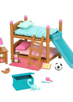 Игровой набор Li'l Woodzeez Двухъярусная кровать для детской к...