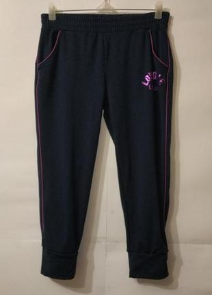 Спортивные синие укороченные спортивные штаны lonsdale uk 10/38/s