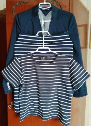Комплект Oodji (тройка) Юбка, футболка, жакет