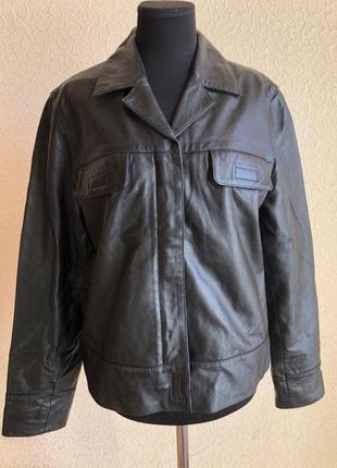 Чёрная кожаная куртка от бренда gipsy, ы идеальном состоянии