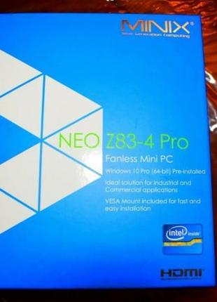 4K Мини ПК / ТВ приставка Minix Neo Z83-4 Pro Win 10 Pro 64 ли...