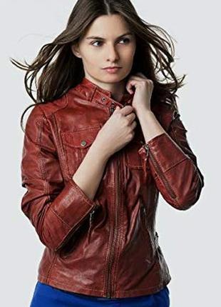 Кожаная куртка от бренда gipsy, бордовая в идеальном состоянии.