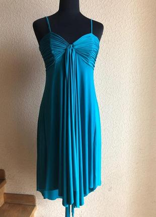 Платье летнее бирюзовое ниже колена миди от new look