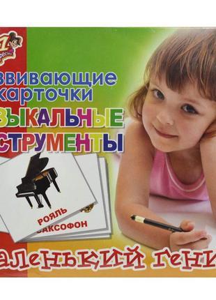 Детские карточки Музыкальные инструменты русский 15шт. картон ...