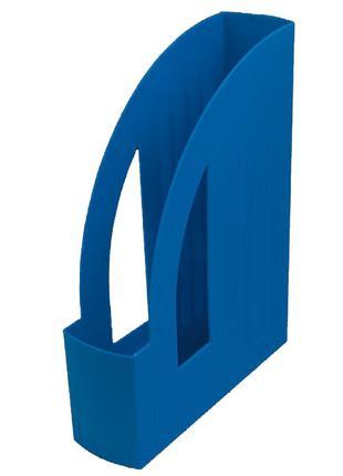Лоток вертикальный настольный 1 отделение Арника пластик синий