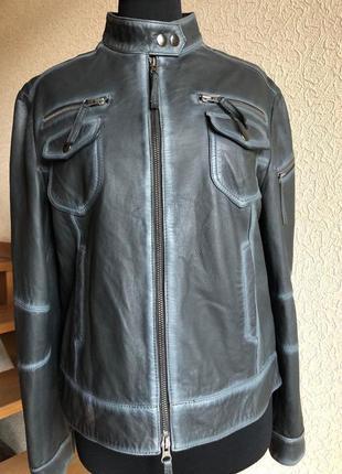 Кожаная куртка от бренда maddox