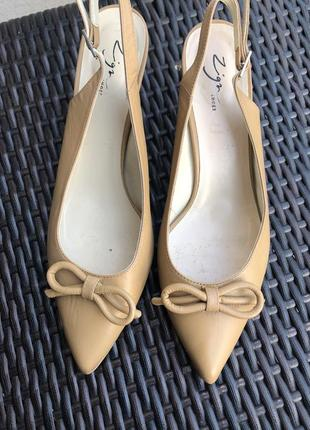 Кожаные туфли -босоножки  zign, размер 40