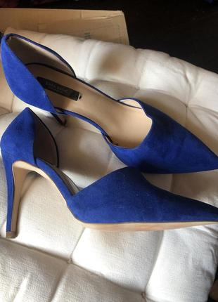 Туфли zara. ярко синие-размер 39