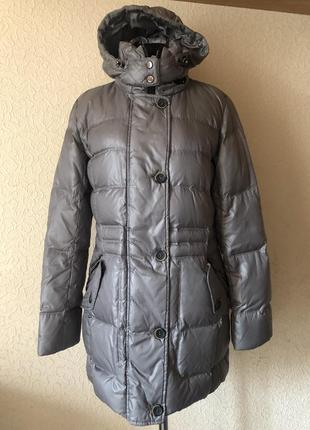 Пуховое пальто пуховик apanage(германия). размер м