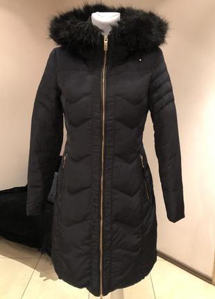 Пуховое пальто пуховик zara.размер с