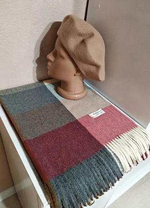 Комплект шарф-палантин и берет тonak чехия