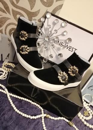 Стильные слипоны кеды ботинки nine west