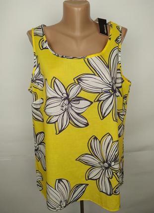 Новая блуза майка хлопковая в цветы ситцевая uk 16/44/xl