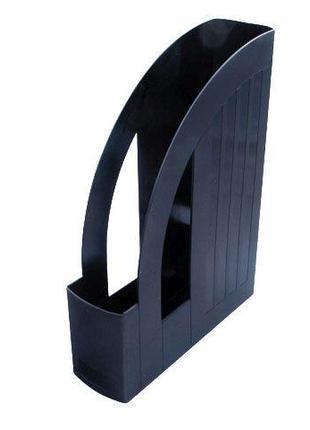 Лоток вертикальный настольный 1 отделение Арника пластик черный