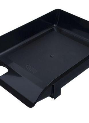 Лоток горизонтальный настольный 1 отделение Арника пластик черный