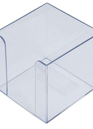 Бокс для бумаги 90х90х90мм Арника пластик прозрачный