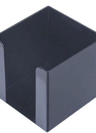 Бокс для бумаги 90х90х90мм Арника пластик черный