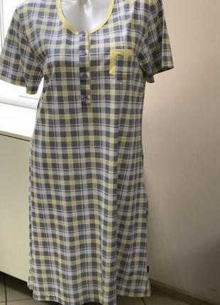 Хлопковая ночная сорочка, размер-l