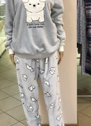 Пижама/домашний костюм, теплая,мягкая, размер-xl