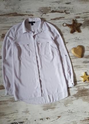 Нежная рубашка с длинным рукавом
