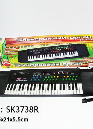 Орган пианино 3738 от сети 220V, синтезатор, 37 клавиш
