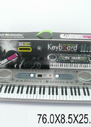 Орган пианино 020FM синтезатор от сети, 54 клавиша, с микрофон...
