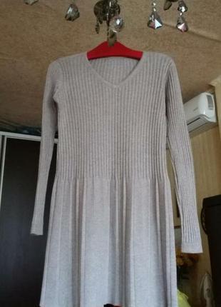 Трикотажное платье размер 36
