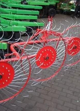 Граблі ворушилки Сонечко 4 колеса Агромех грабли ворошилки