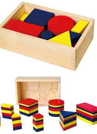 Обучающий набор Viga Toys Логические блоки Дьенеша ORIGINAL