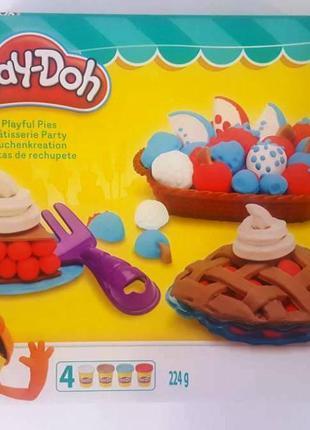 Пластилин Play-Doh 4 цвета 224гр B3398