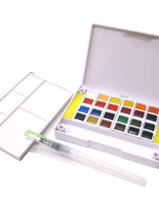 Краски акварельные 24 цвета с кисточкой ТМ Joyko 2001-WC