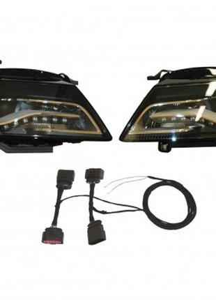Оригинальные би-ксеноновые LED фары на Audi A4 (б/у)