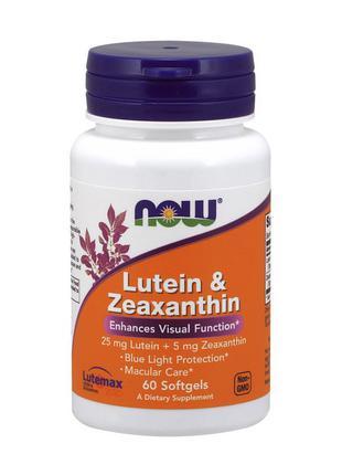 Лютеином и зеаксантин NOW Lutein & Zeaxanthin 60 softgels