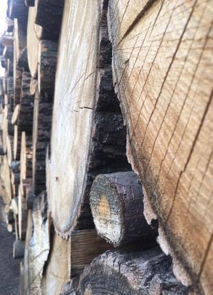 Дубовые колотые дрова