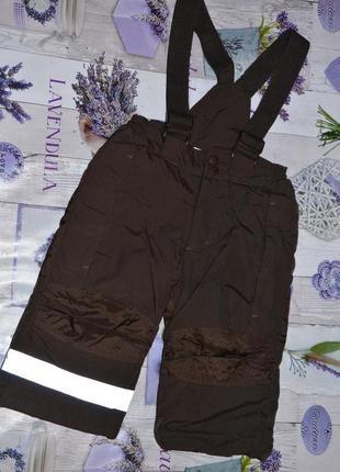Зимний термо полукомбинезон штаны h&m 12-18мес 86см детские те...