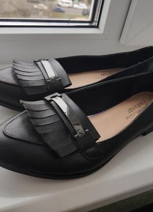 Туфли лоферы от george, размер 41-42
