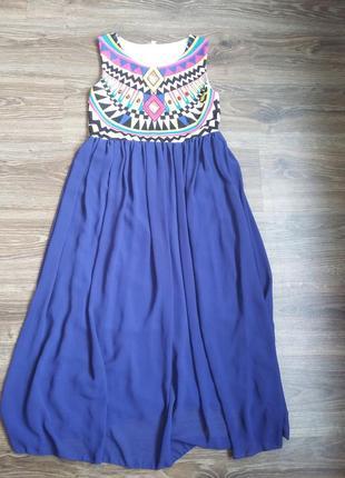 Нарядное платье красивого синего цвета