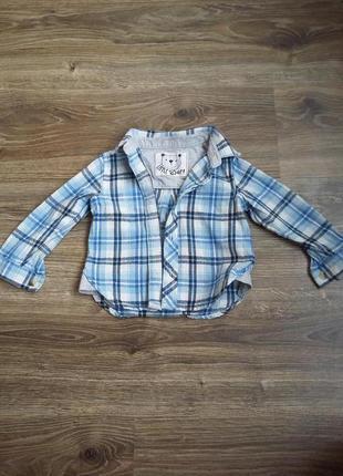 Рубашечка для стильного малыша 9-12мес mothercare
