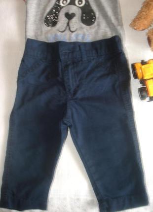 Коттоновые штанишки-бриджы на мальчика 1 год