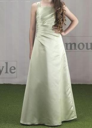 😱невероятное👗 бело кремовое вечерние платье