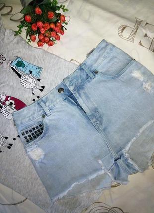 Крутые джинсовые шорты завышенной талией от divided