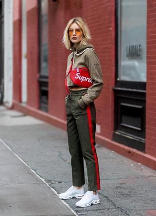 Италия,штаны брюки хаки с лампасами