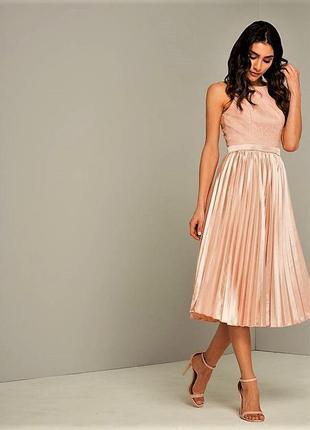 Эксклюзивное, потрясающее вечерние платье с кружевным верхом и...