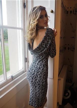 Англия,блестящие вечерние платье люрекс-глитер-серебро с откры...